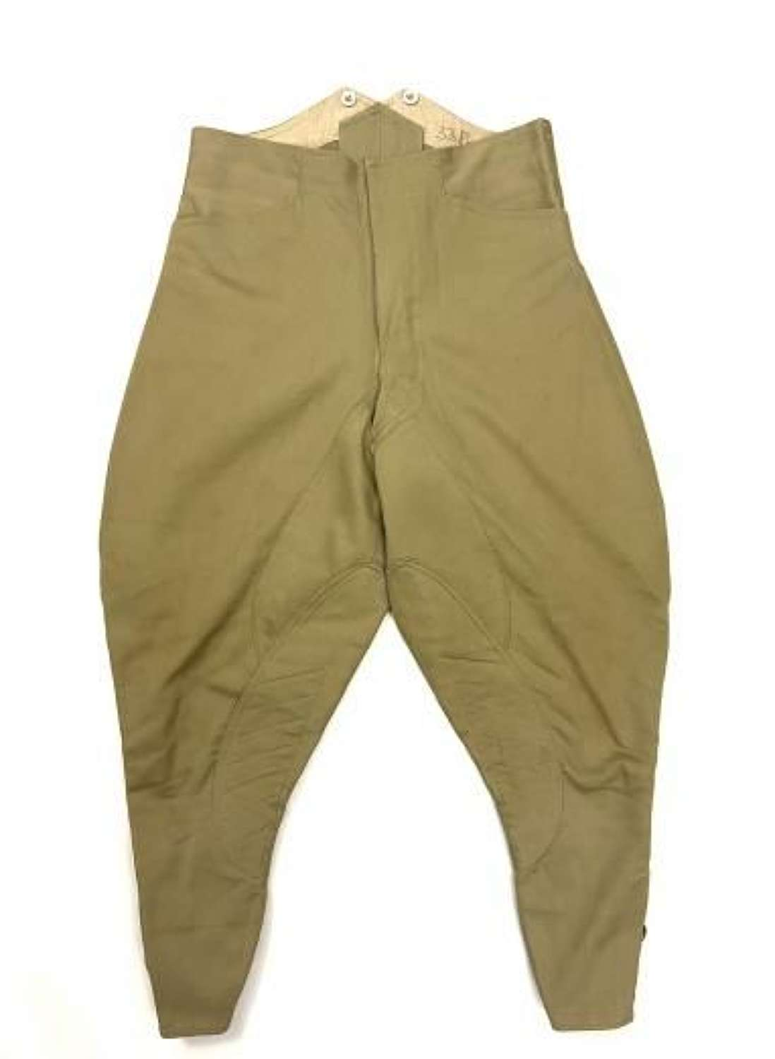 Original 1939 Dated Indian Made Khaki Drill Mounted Breeches