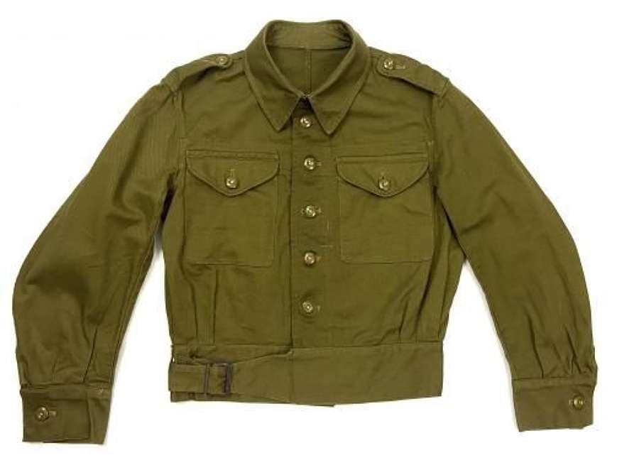 Original 1943 Dated British Denim Battledress Blouse - Size 1
