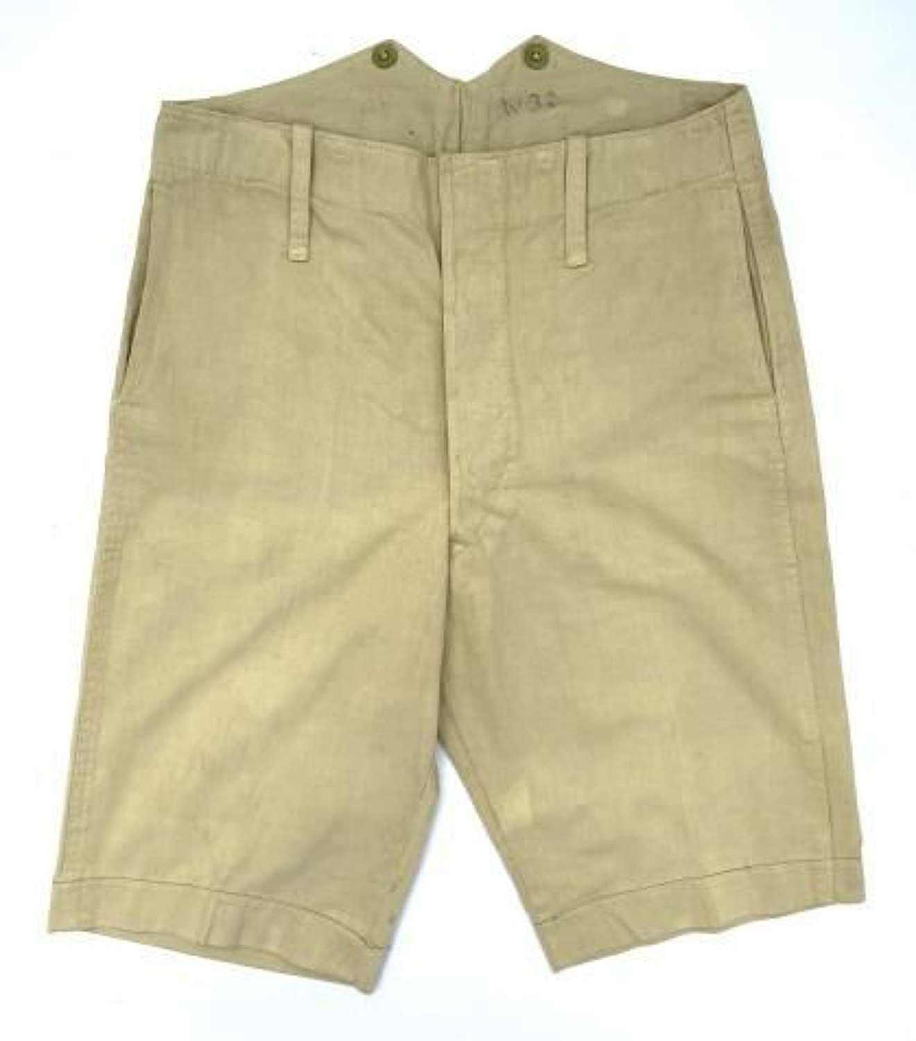 Scarce Original Inter-War British Khaki Drill Shorts