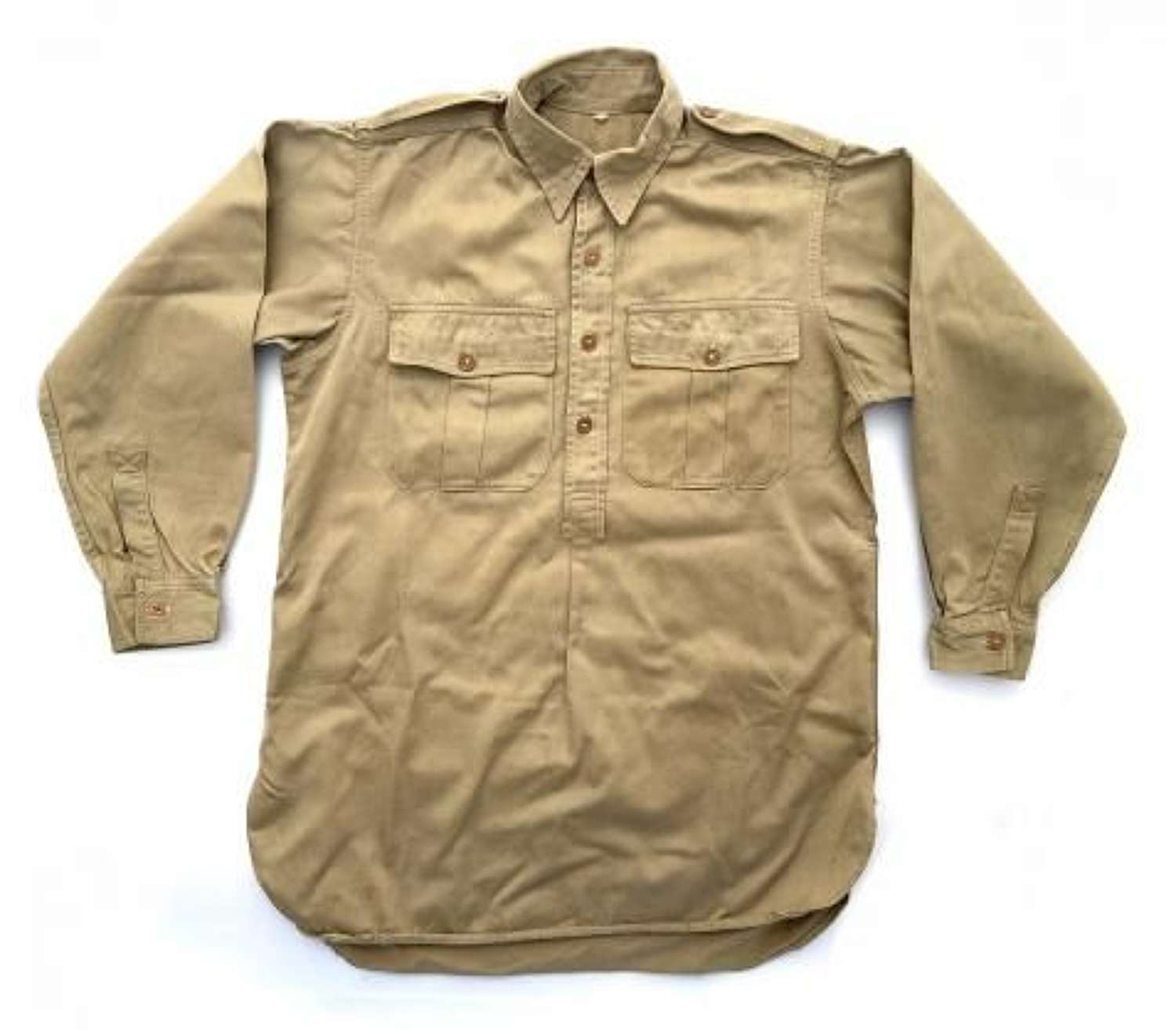 Original WW2 Royal Navy Khaki Drill Shirt