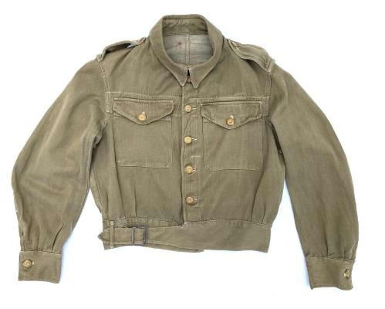 Original 1943 Dated British Army Denim Battledress Blouse - Size 9