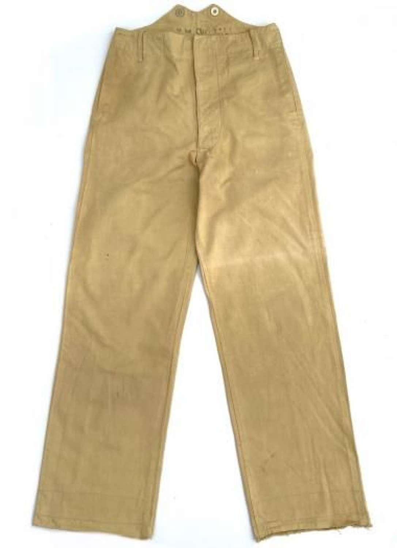 Original 1930s Royal Marines Khaki Drill Trousers
