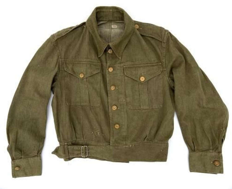 Original Early WW2 British Army Denim Battledress Blouse - Size 6