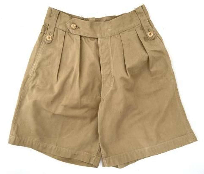 Original 1940s British Khaki Drill Shorts - 28