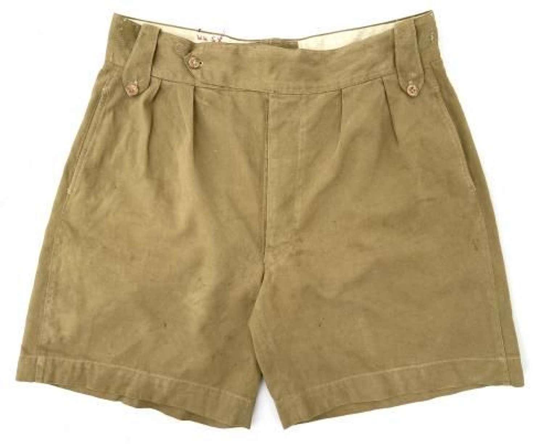 Original 1940s British Khaki Drill Shorts - 34