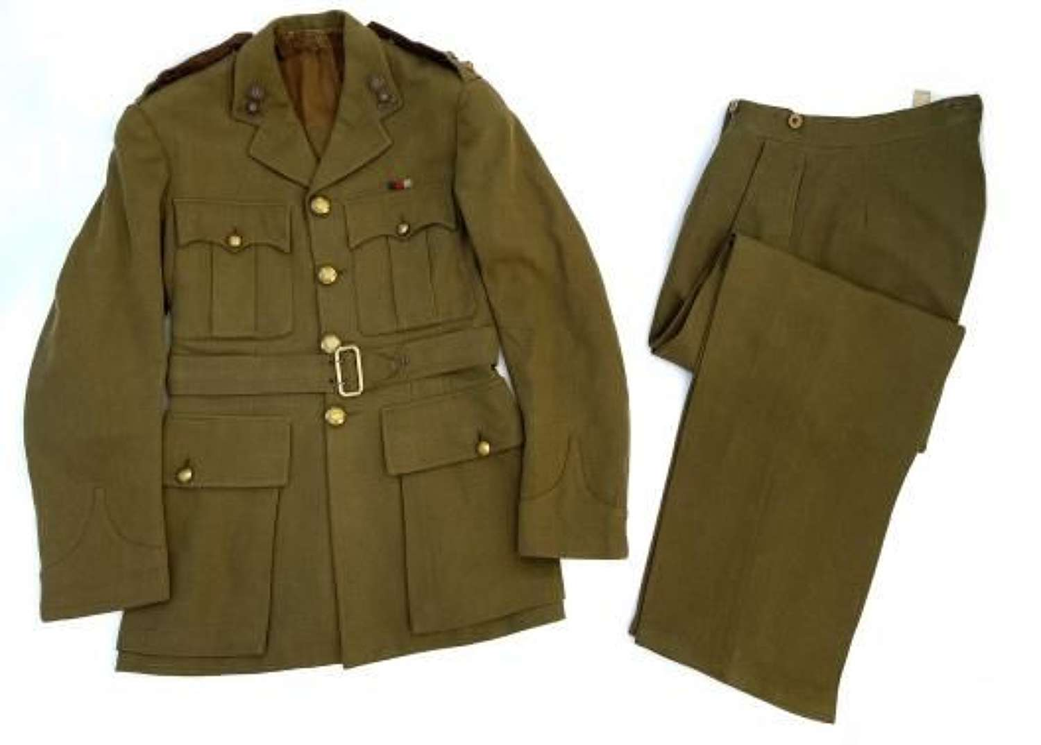 Original 1941 Dated Royal Artillery Officers Service Dress Named to 'B
