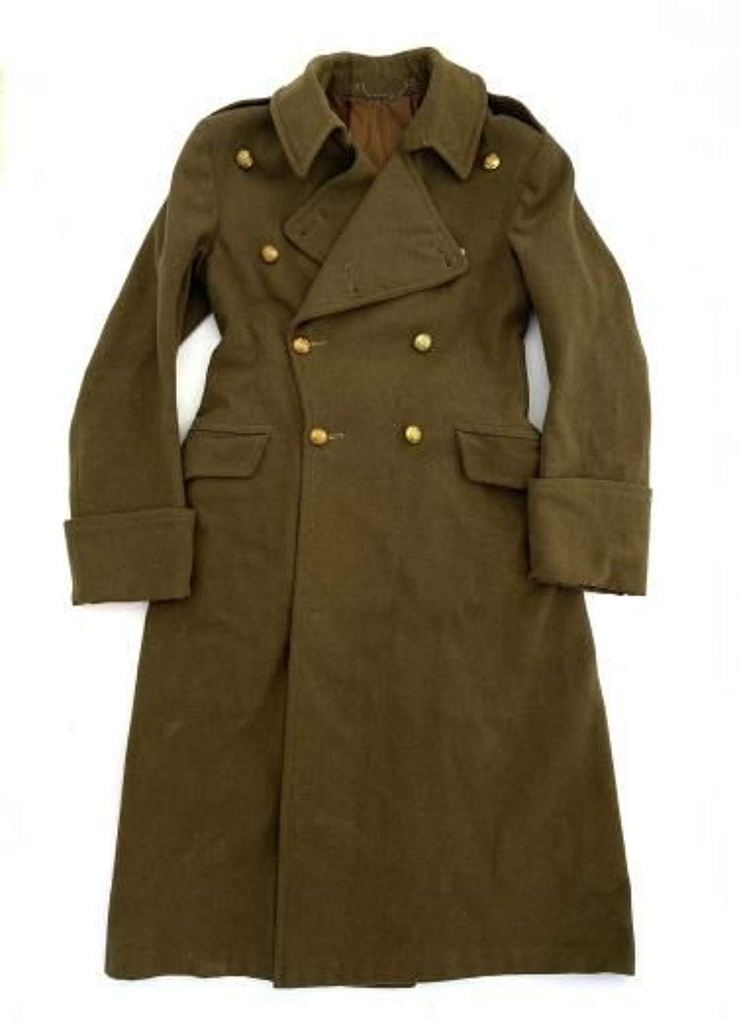 Original 1941 Dated Royal Artillery Officers Greatcoat Name to 'Bull K