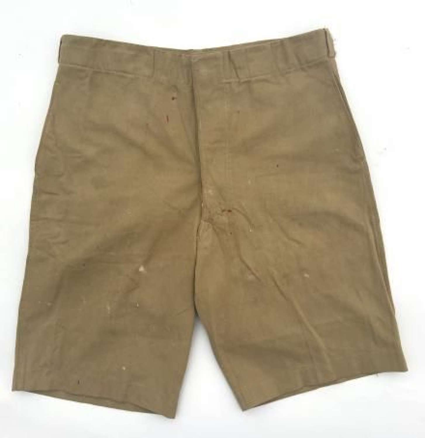 Original 1942 Dated New Zealand Made Khaki Drill Shorts