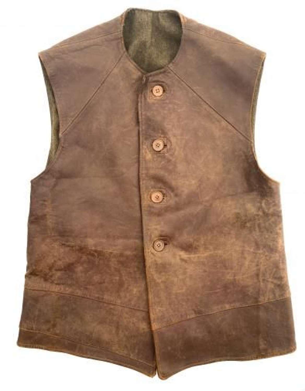 Original WW2 British Army Leather Jerkin