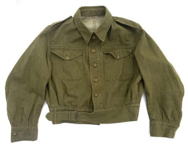 Original British Army Denim Battledress Blouse