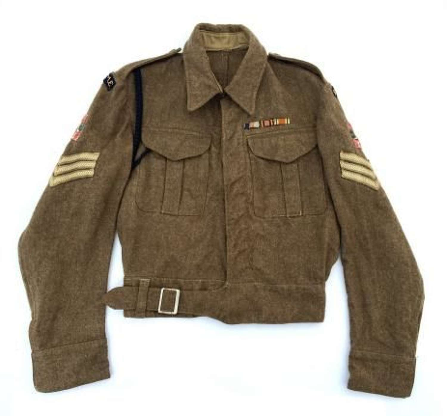 Original 1941 Dated British Army Battledress Blouse with REME 12th Arm