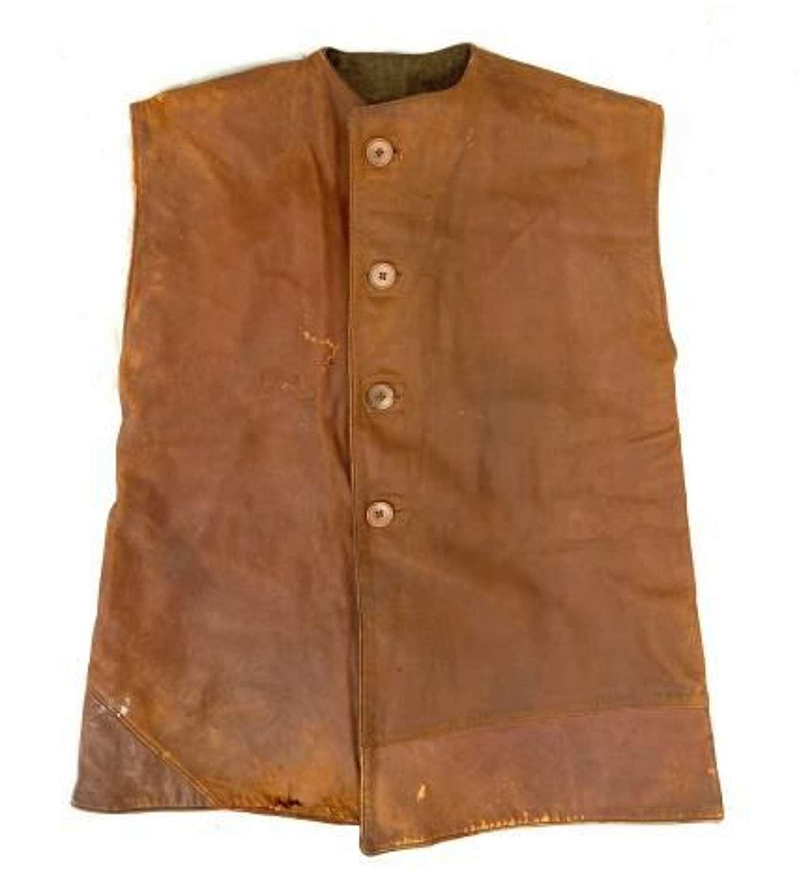 Original WW2 British Army Leather Jerkin - Large Size