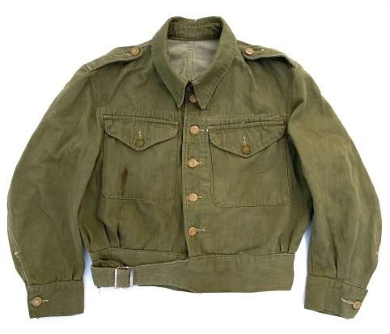 Original 1954 Dated British Army Denim Battledress Blouse - Size 4