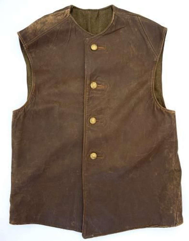 Original 1944 Dated British Army Leather Jerkin - Size No. 2