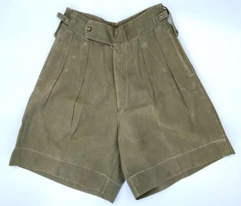 Original 1940s Theatre Made Jungle Green Shorts (2)