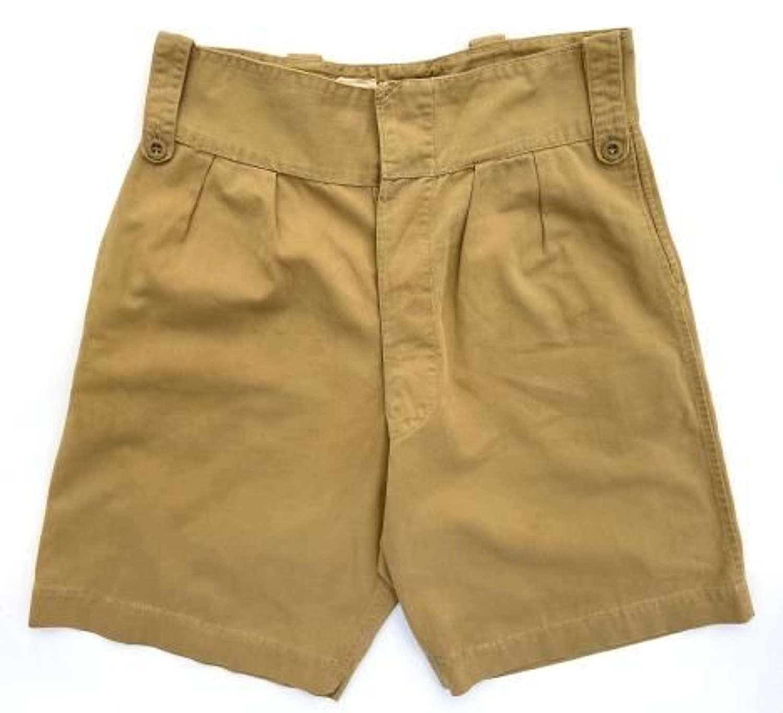 "Original WW2 British Made Khaki Drill Shorts - 34"""