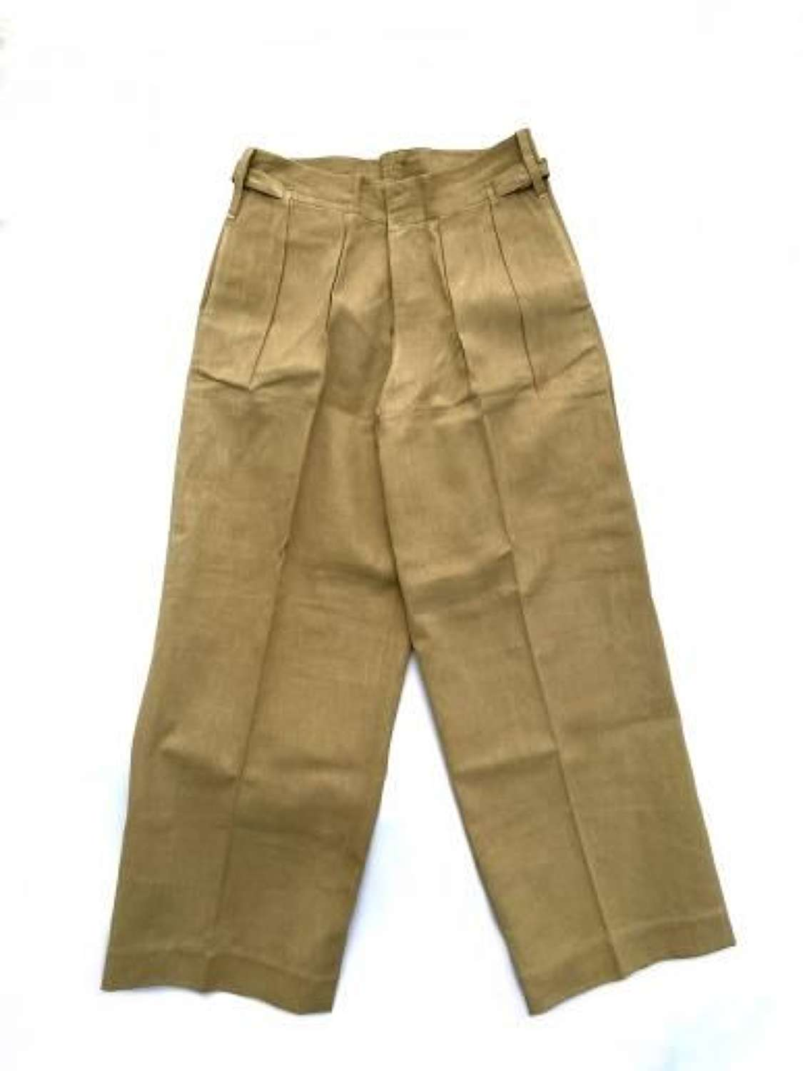 Original 1940s Theatre Made British Khaki Drill Trousers
