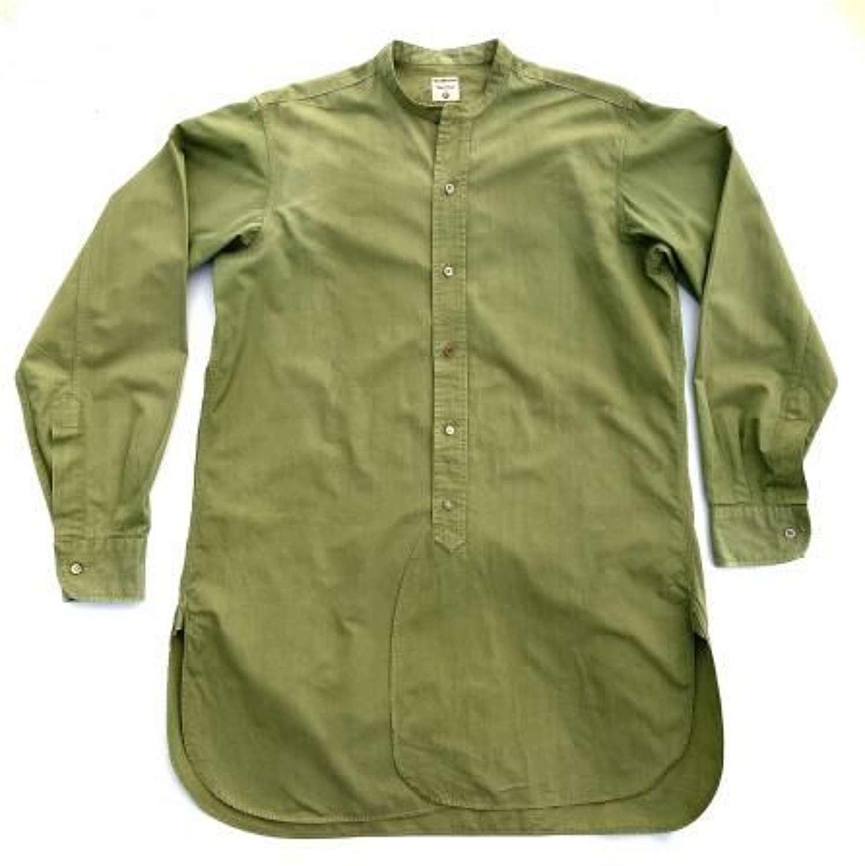 Original 1940s British Army Officers Shirt by 'Van Heusen' + Matching Collar