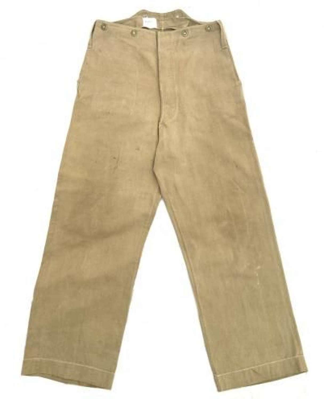 Original WW2 Royal Marines Khaki Drill Trousers