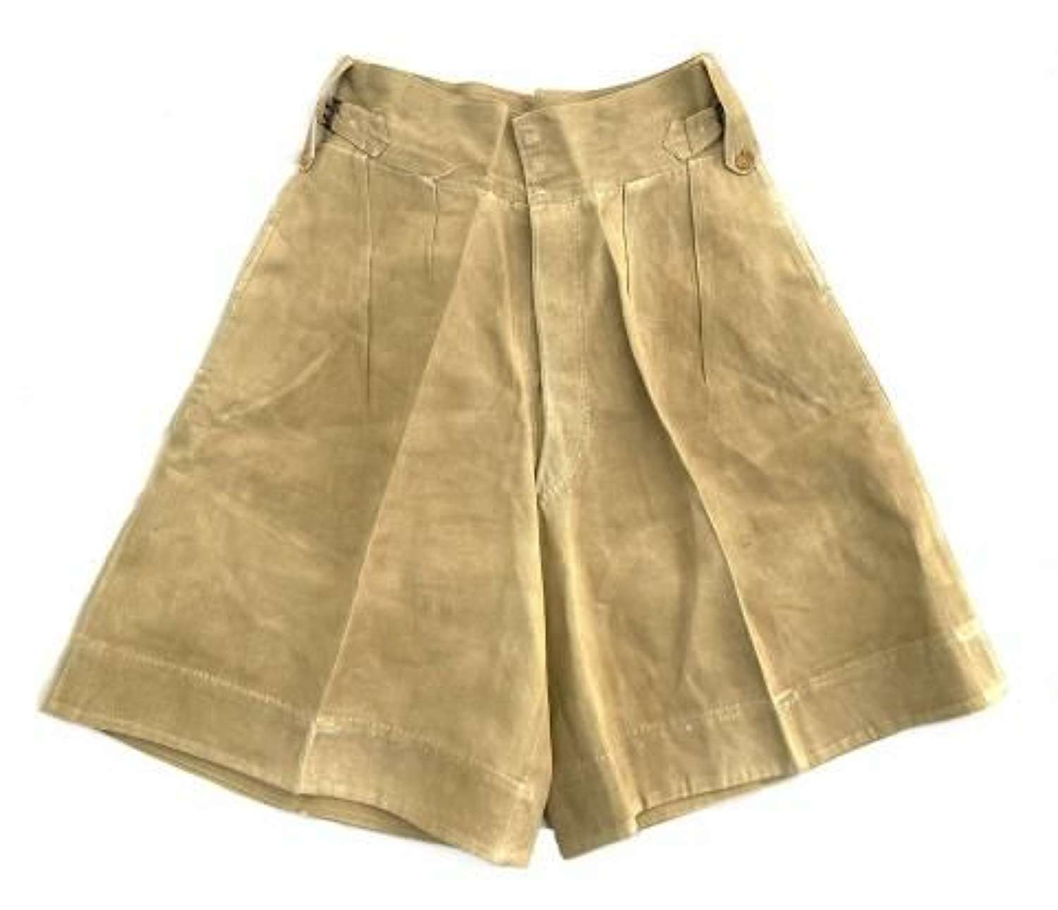 Original WW2 Theatre Made British Khaki Drill Shorts