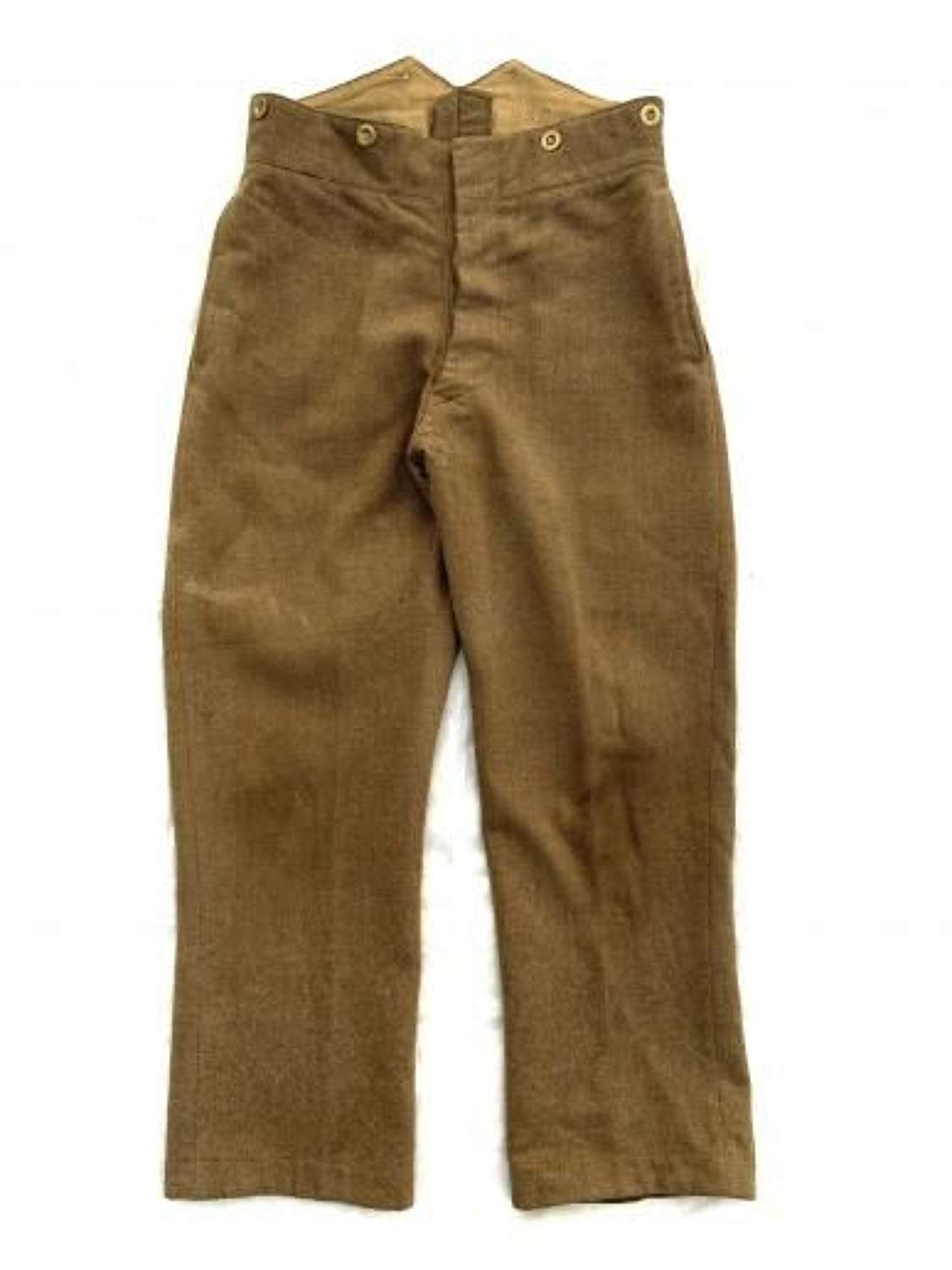 Original 1942 Dated British Army Service Dress Trousers