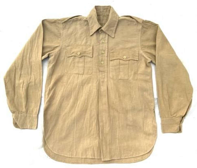 Original 1940s British Khaki Drill Shirt
