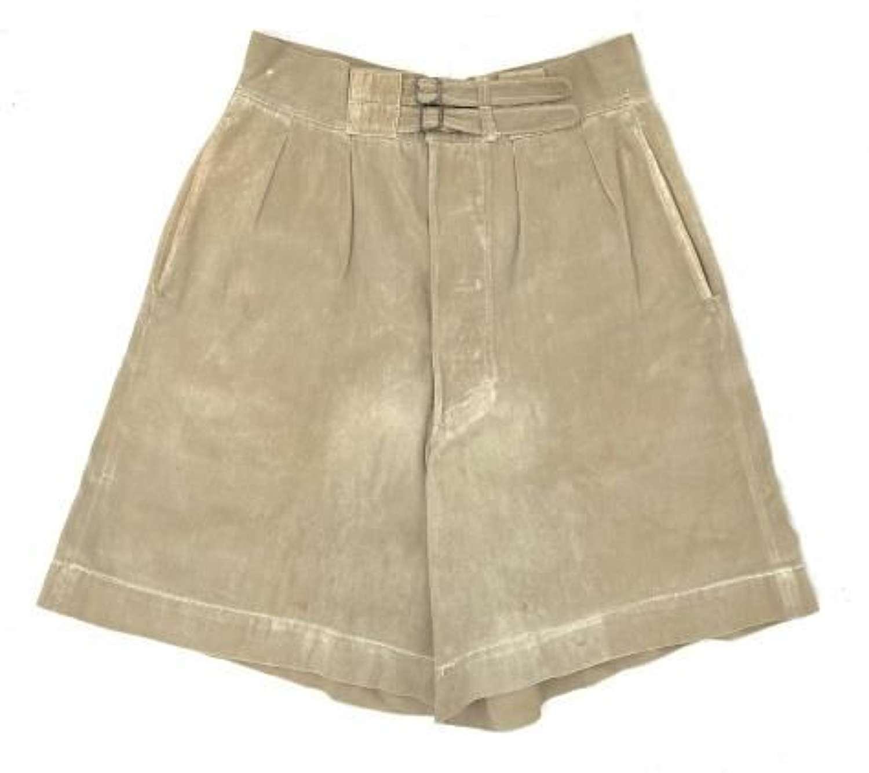 Original WW2 British Khaki Drill Shorts
