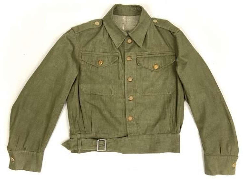 Original 1945 Dated British Denim Battledress Blouse by 'Laviolette'