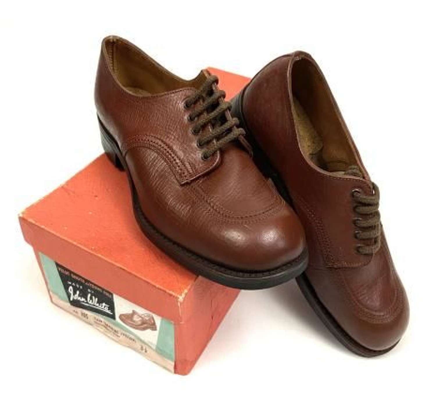 Original WW2 Auxiliary Territorial Services Officers CC41 Brown Leather Shoes