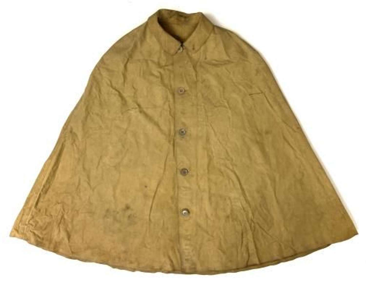 Original 1945 Dated British Rubberised Rain Cape - Royal Marines