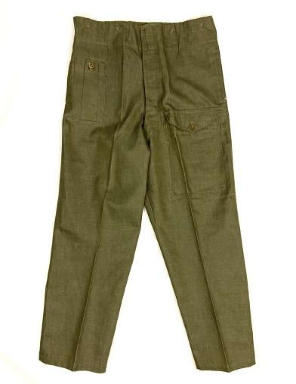 Original 1954 Dated British Army Denim Trousers - Size 8