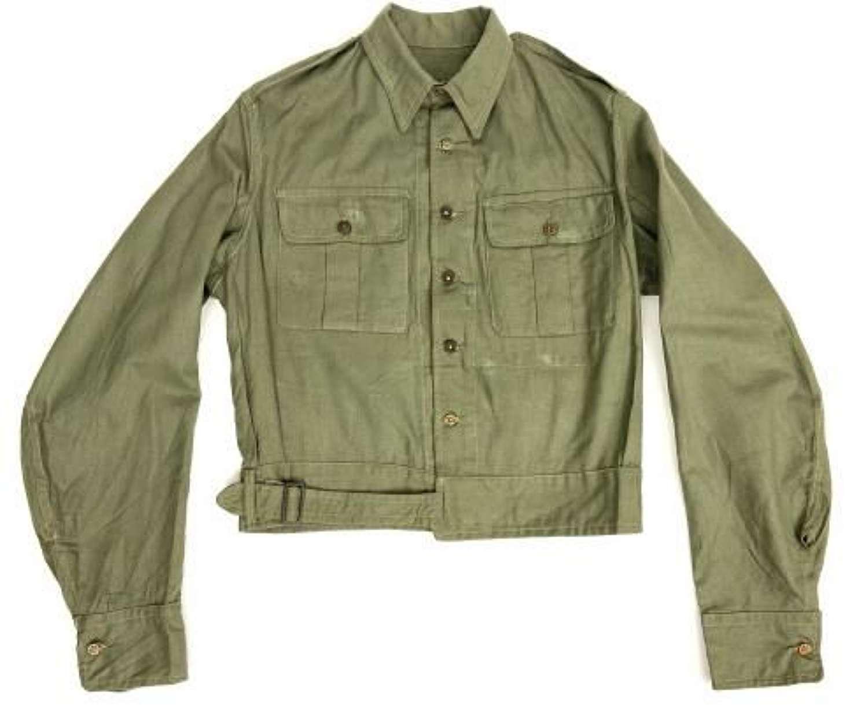 Original WW2 Indian Made British Jungle Green Airtex Blouse