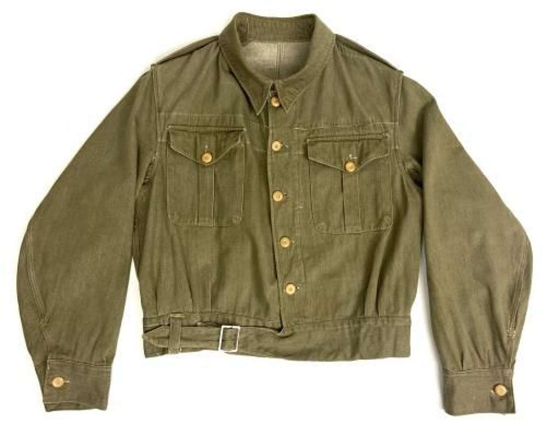 Original Early WW2 British Army Denim Battledress Blouse - Large size
