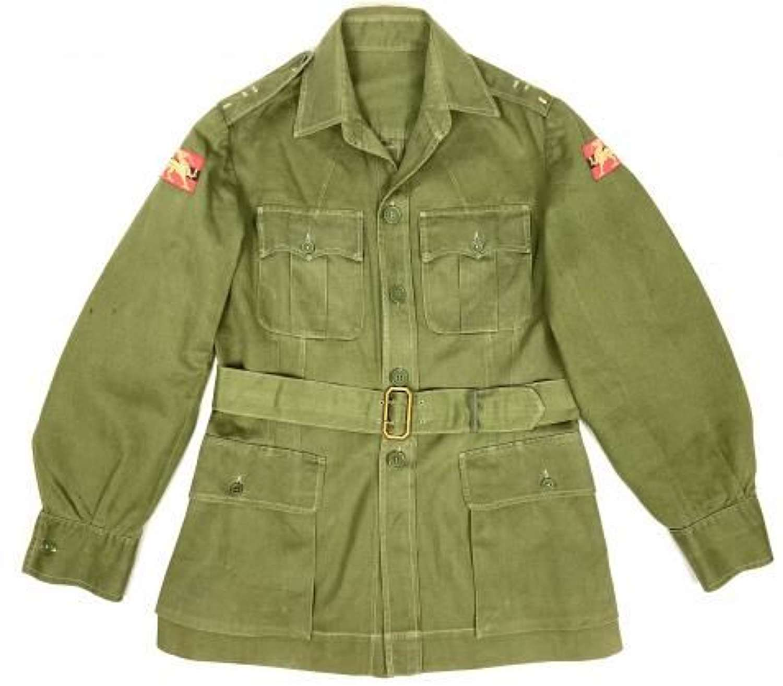 Original 1940s British Army Officers Jungle Green Bush Jacket