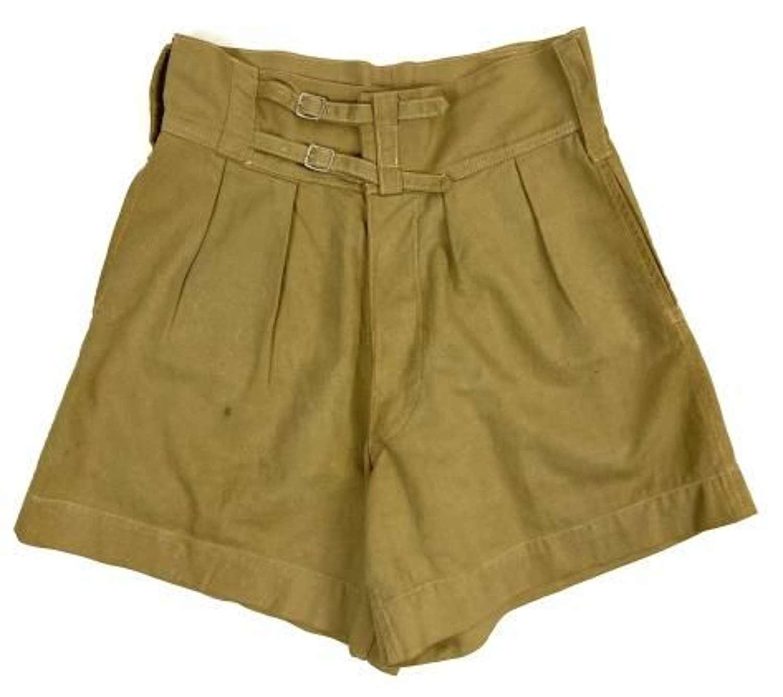 Original 1942 Dated British Army Khaki Drill Shorts