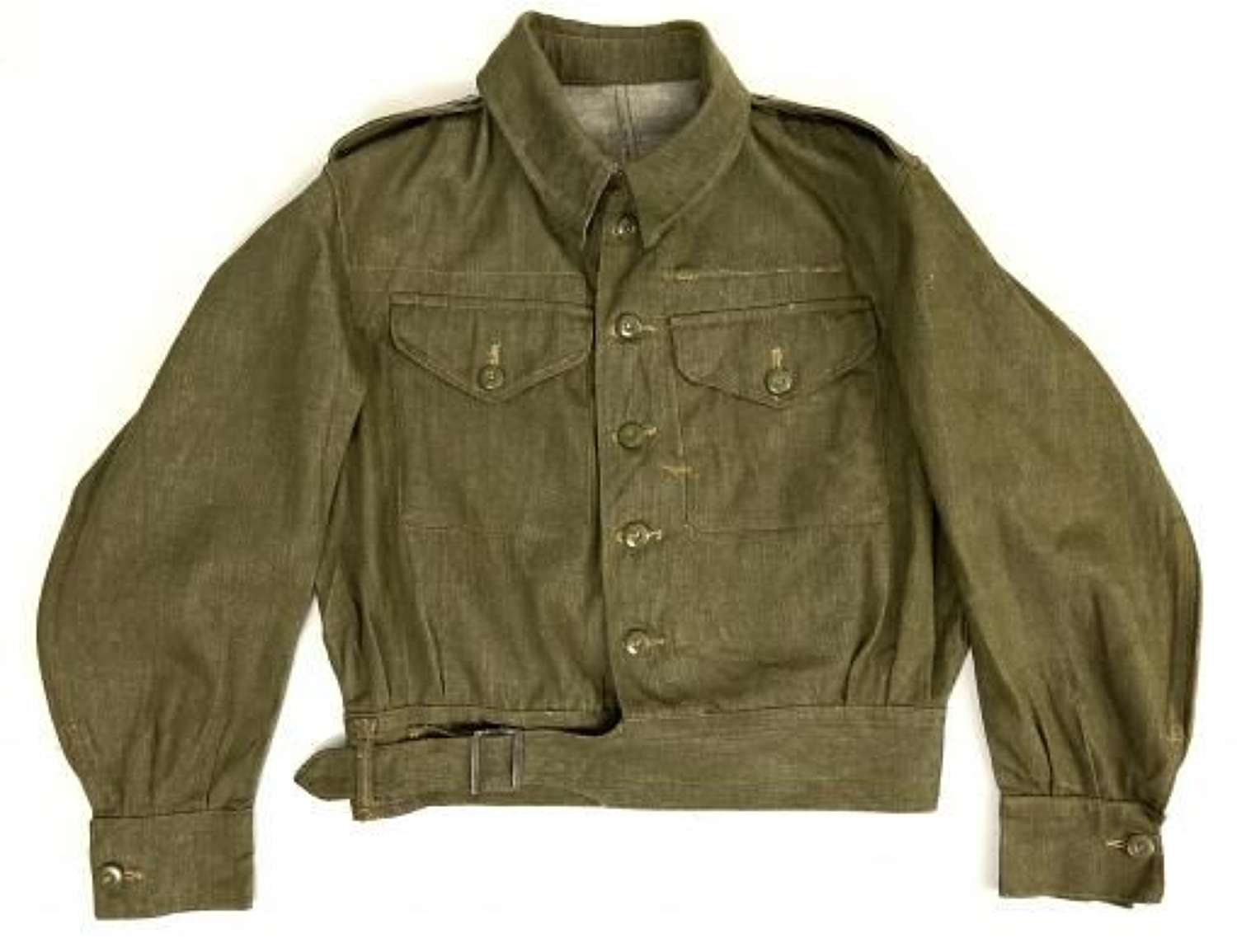 Original 1946 Dated New Old Stock British Army Denin Battledress Blouse - Size 6