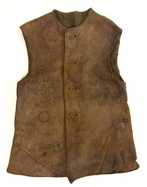 Original 1940 Dated British Army Leather Jerkin