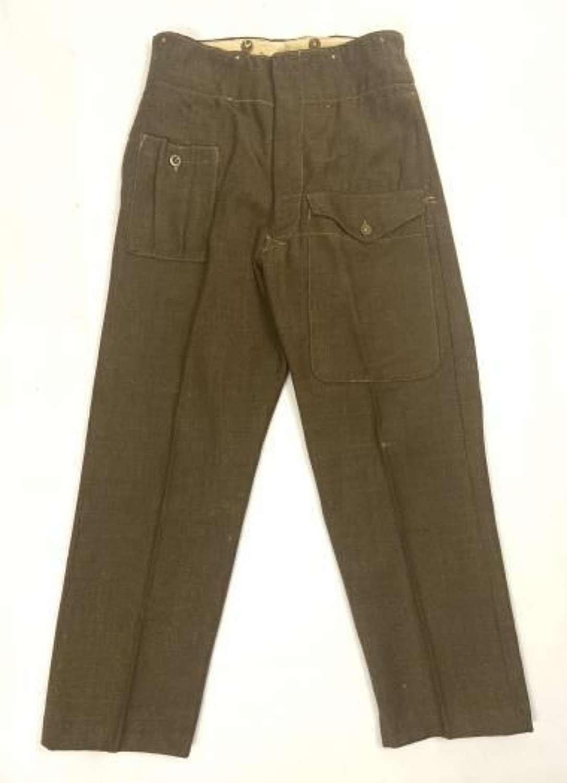 Original 1945 Dated 1940 Pattern (Austerity) Battledress Trousers
