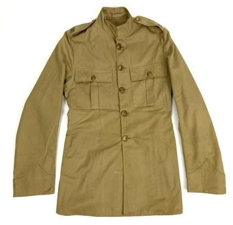 Original Pre - WW2 Royal Marines Khaki Drill Service Dress Tunic