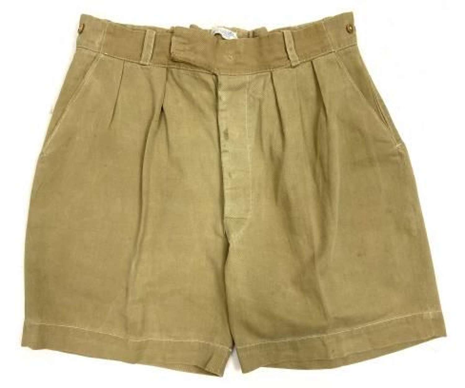 Original 1940s Khaki Drill Shorts by 'Gamages'