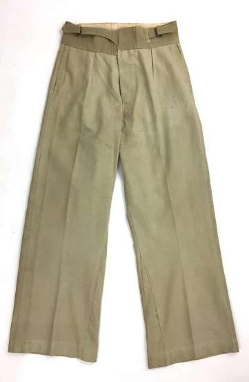 Original WW2 British Khaki Drill Trousers