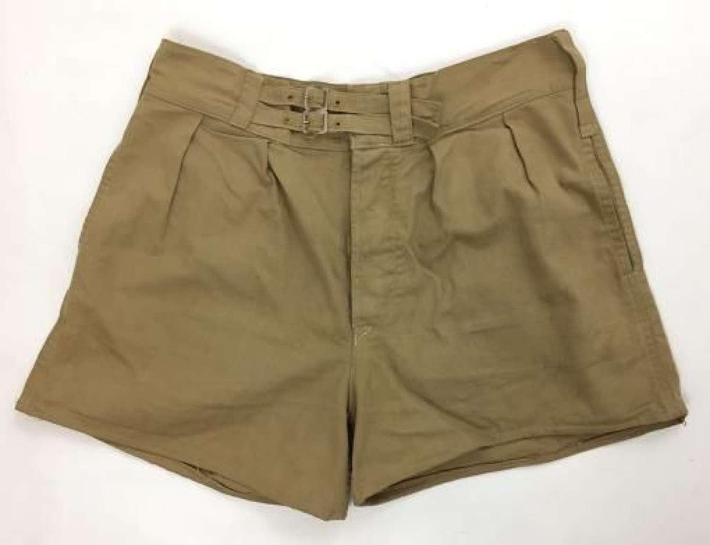 Original 1945 Dated British Khaki Drill Shorts