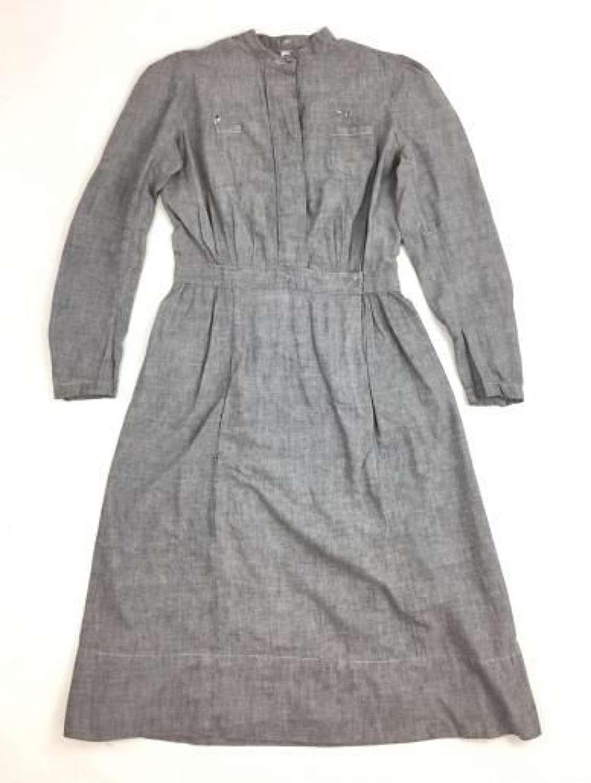 Original 1940s Women's Grey Nurse Dress
