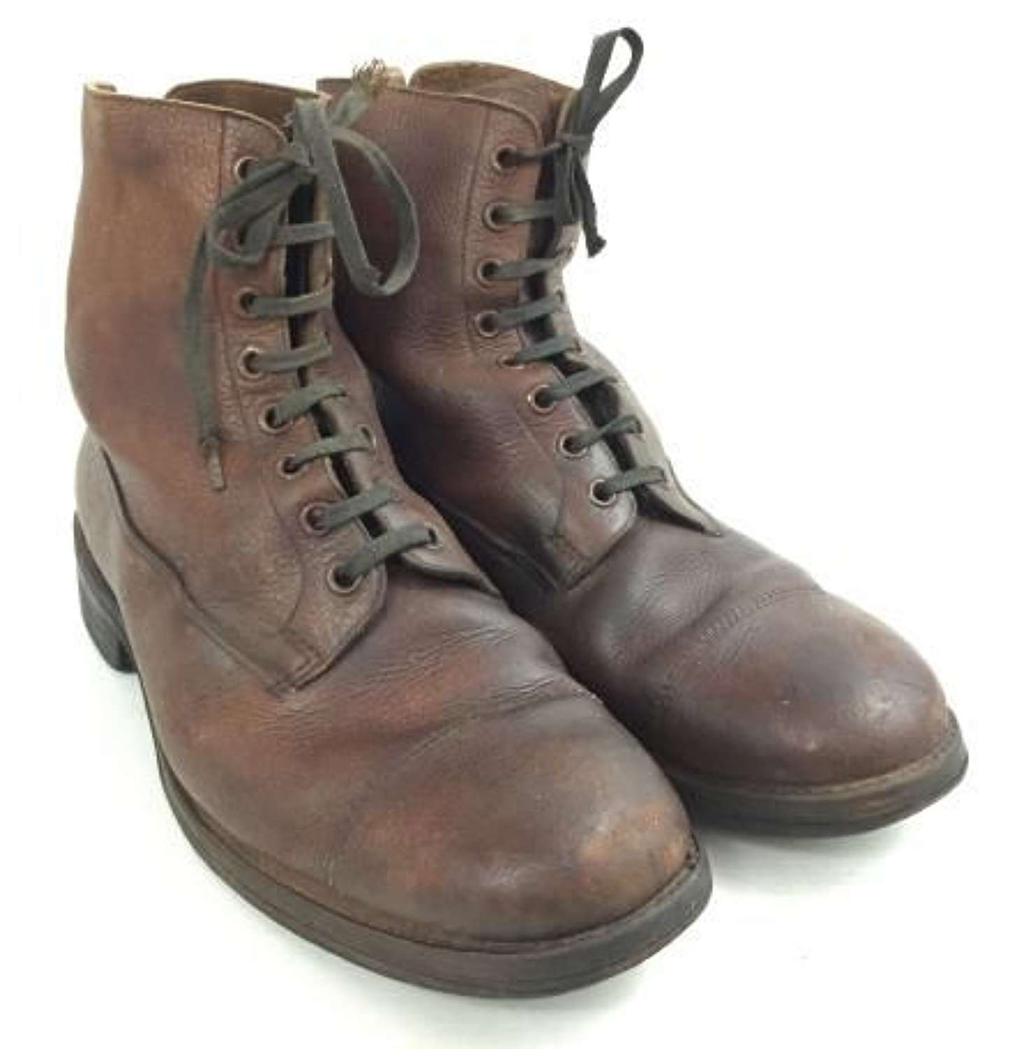 Original WW2 Brown British Army Officers Boots By 'Lotus'