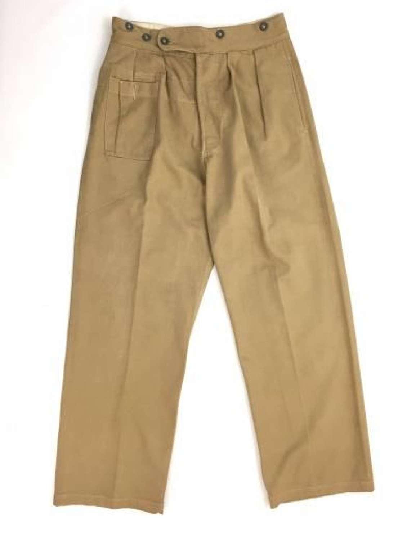 Original 1942 Dated 1942 Pattern Khaki Drill Trousers