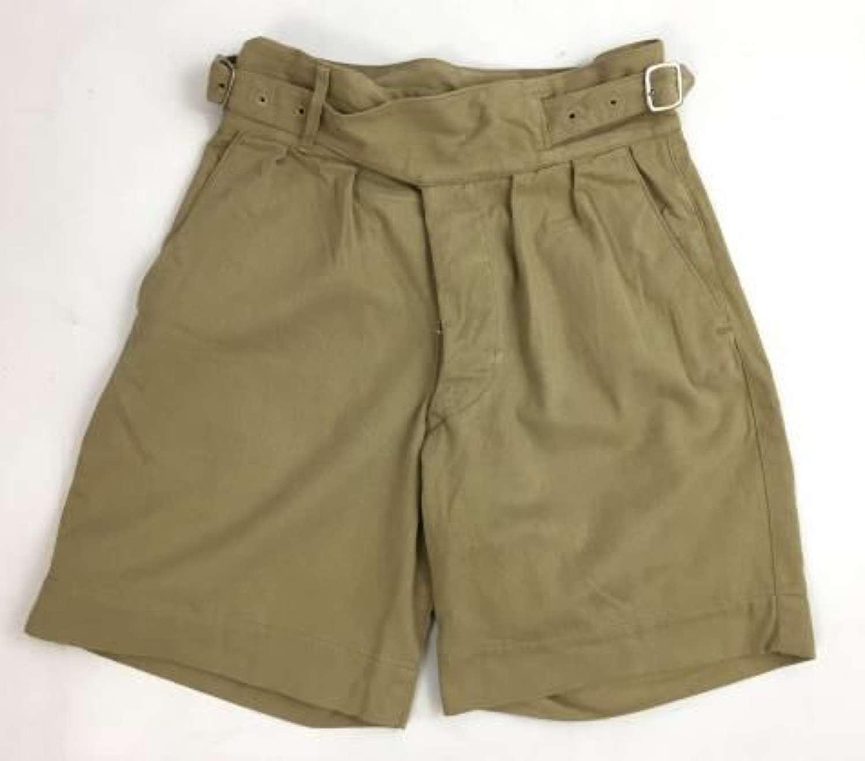 Original WW2 Period Khaki Drill Shorts by 'Moss Bros'