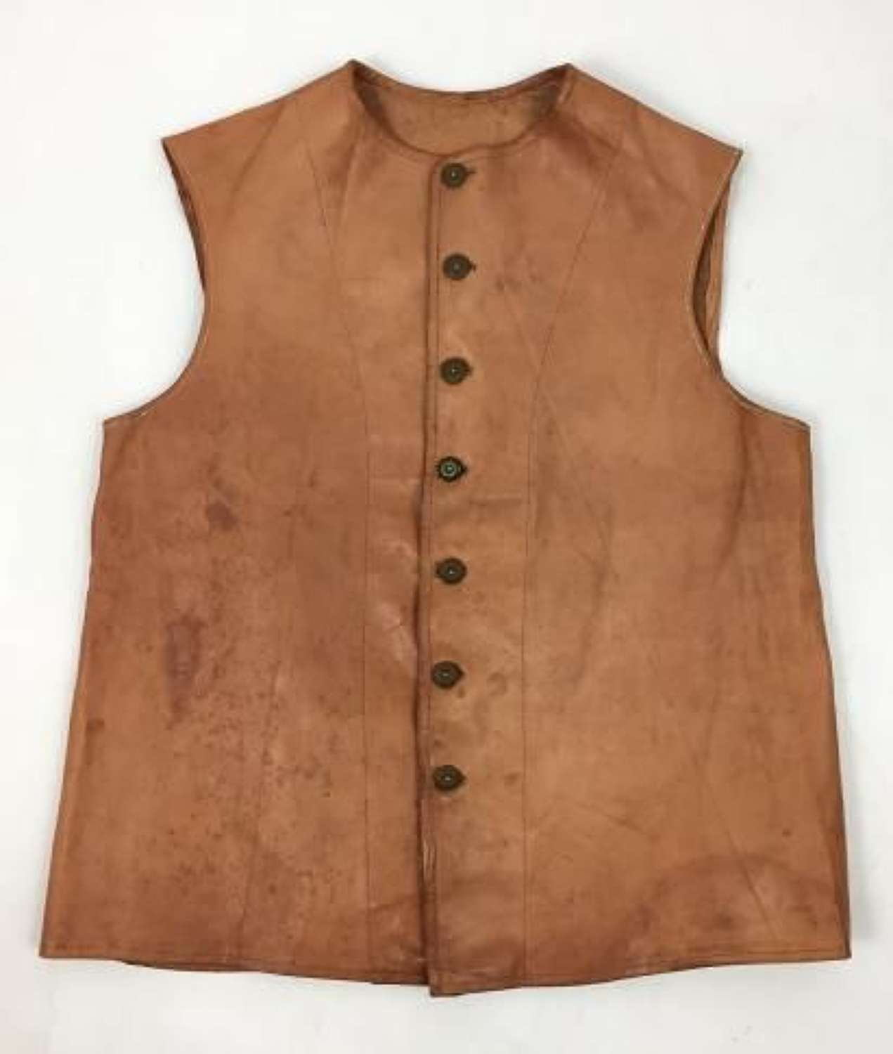 Original 1941 Dated Indian Made Leather Jerkin