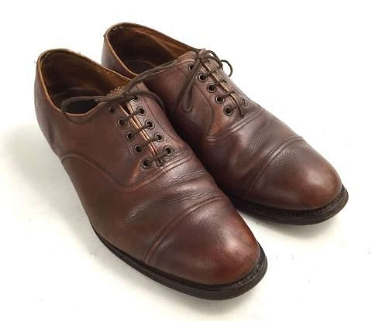 Original British Army Officers Brown Shoes by 'Church'