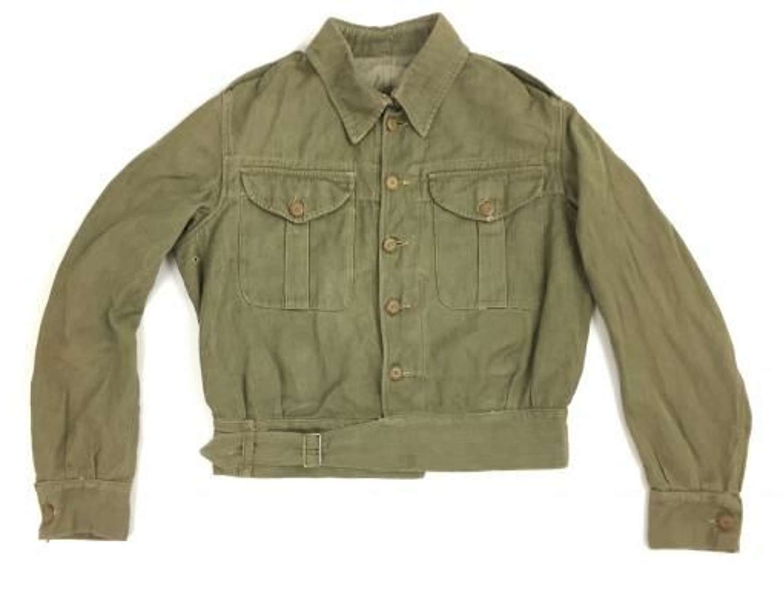 Original 1940 Dated British Army Denim Battledress Blouse