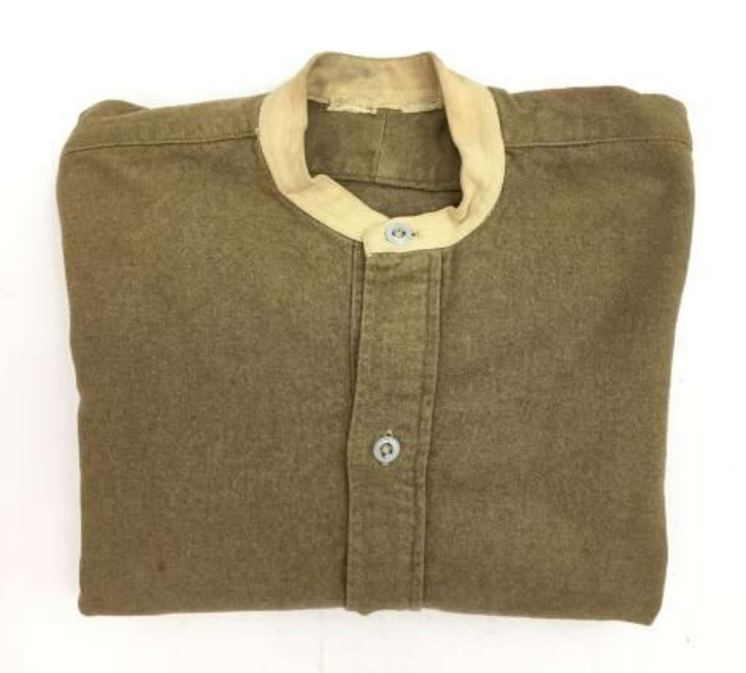 Original Early WW2 British Army Collarless Shirt by 'L. B. & S.'